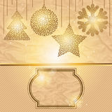 Elegant Christmas background with gold evening Stock Images