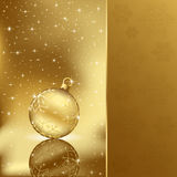 Elegant christmas background with golden ball Royalty Free Stock Photos