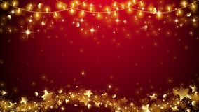 Elegant Christmas Background,Golden star Royalty Free Stock Photo