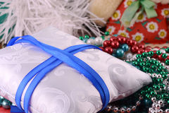 Elegant christmas background with new year decorations Royalty Free Stock Photos