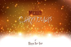 Elegant christmas background with place for new year text invitation Royalty Free Stock Photography