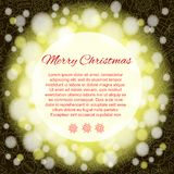 Elegant Christmas background with place for text. Royalty Free Stock Photos