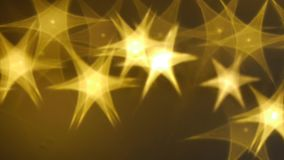 Elegant Christmas background with shining Stars stock footage