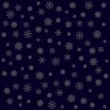 Elegant christmas background with silver snowflakes  2016 Stock Photo