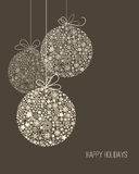 Elegant Christmas background. Snowflake pattern baubles Stock Image