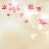 Elegant Christmas background with snowflakes. Stock Image