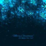 Elegant christmas background with snowflakes Royalty Free Stock Photos