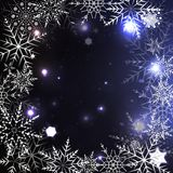 Elegant Christmas background with snowflakes Royalty Free Stock Photo