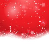 Elegant Christmas background with snowflakes Stock Photos