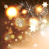 Elegant Christmas background with snowflakes Royalty Free Stock Images