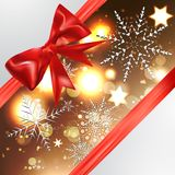 Elegant Christmas background with snowflakes Stock Image
