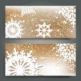 Elegant Christmas background with snowflakes Stock Photo