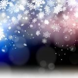Elegant christmas background snowflakes illustration Stock Photos
