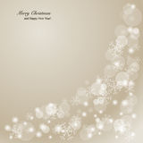 Elegant Christmas background with snowflakes and p Stock Photo