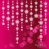 Elegant Christmas background with snowflakes and p Stock Photos