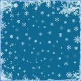 Elegant Christmas background with snowflakes Stock Image