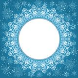 Elegant Christmas background with snowflakes and place for text. Abstract winter background. Vector Illustration stock illustration