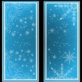 Elegant Christmas background with snowflakes and place for text. Abstract winter background. Royalty Free Stock Photos