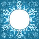 Elegant Christmas background with snowflakes and place for text. Abstract winter background. Vector Illustration Royalty Free Stock Images