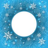 Elegant Christmas background with snowflakes and place for text. Abstract winter background. Stock Image