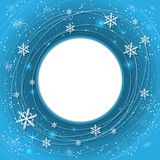Elegant Christmas background with snowflakes and place for text. Abstract winter background. Stock Photos