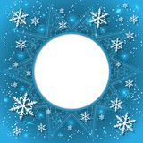 Elegant Christmas background with snowflakes and place for text. Abstract winter background. Stock Photography
