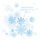 Elegant Christmas background with snowflakes place for text. Vector Stock Photography
