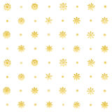 Elegant Christmas Background with Snowflakes, Seamless Snowflakes Pattern. gold vector Stock Photography
