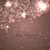 Elegant christmas background with snowflakes. Christmas background for your design Royalty Free Stock Photography