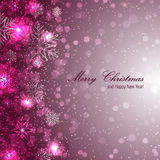 Elegant christmas background with snowflakes. Christmas background for your design Stock Photos