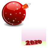 Elegant christmas ball. S and passing year Royalty Free Stock Images