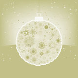 Elegant Christmas ball with greeting. EPS 8 Royalty Free Stock Photos
