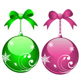 Elegant christmas balls Royalty Free Stock Photography