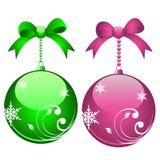 Elegant christmas balls Royalty Free Stock Photography
