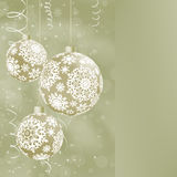 Elegant Christmas balls on abstract . EPS 8 Stock Images