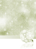 Elegant Christmas balls on abstract . EPS 8 Stock Photography