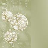 Elegant Christmas balls on abstract . EPS 8 Stock Image