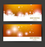 Elegant Christmas banners Stock Photos