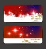 Elegant Christmas banners Royalty Free Stock Photos