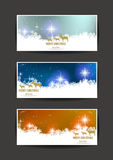 Elegant Christmas banners Stock Images