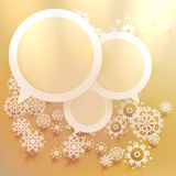 Elegant Christmas banners with snowlakes. Royalty Free Stock Image