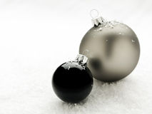 Elegant christmas baubles Royalty Free Stock Photography