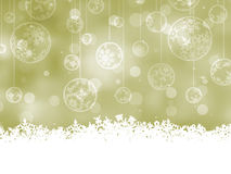 Elegant Christmas Baubles. EPS 8. Vector file included Stock Photography