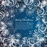 Elegant christmas blue background Stock Photos