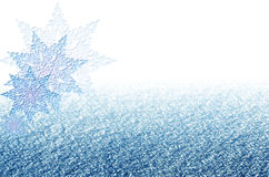 Elegant Christmas blue background with snowflakes. Stock Images