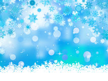 Elegant christmas blue with snowflakes. EPS 8 Stock Image