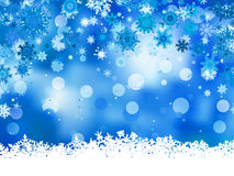 Elegant christmas blue with snowflakes. EPS 8 Royalty Free Stock Photography