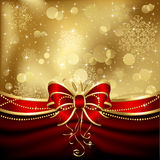 Elegant christmas bow Royalty Free Stock Images