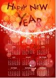 Elegant christmas calendar Royalty Free Stock Image