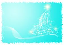 Elegant christmas card. With blue background Royalty Free Stock Photo